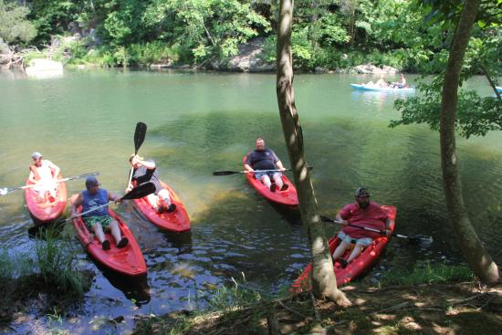 Piedmont, AL: Our group about to go down the creek.