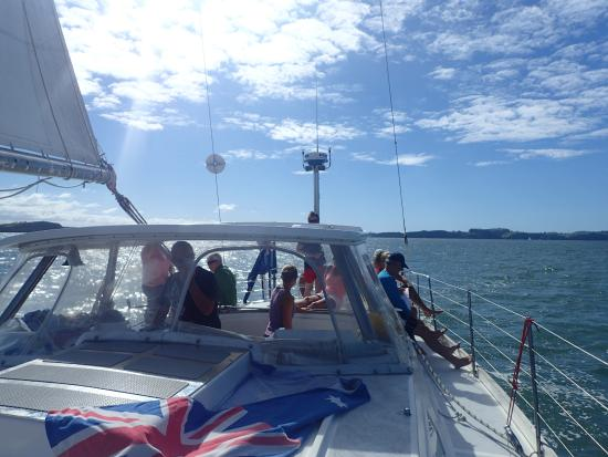 Kerikeri, Nueva Zelanda: View while sailing of the sail boat
