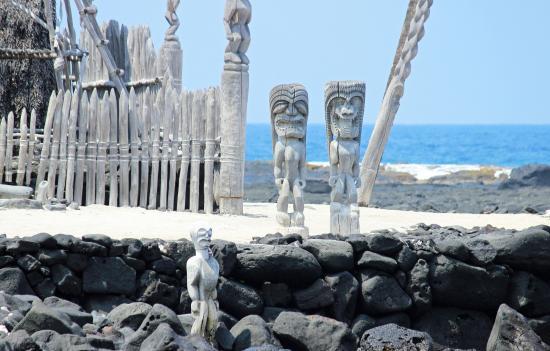 Honaunau, Χαβάη: Various artifacts at the Park.