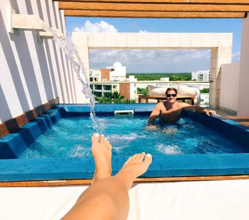 Excellence Playa Mujeres: The rooftop terrace-- Nothing better!