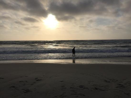 Asilomar State Beach: Relaxing to watch the sunset