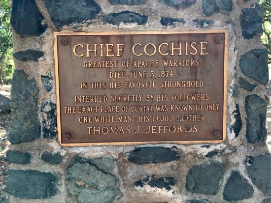 Pearce, AZ: Here you get the story of Chief Cochise