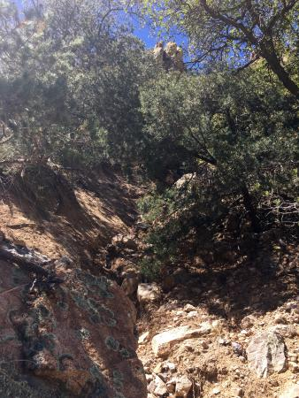 Cochise Stronghold: Narrow trail at times