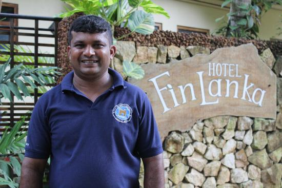 FinLanka: Outside the Hotel with Mr Sanjeewa