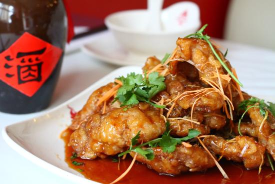 Han Dynasty: Deep fried crispy pork in Chinese sweet and sour sauce