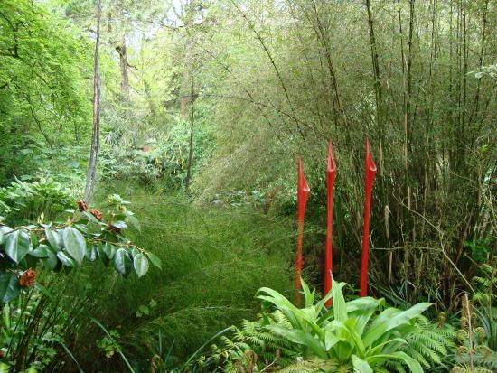 Wild Subtropical Garden: sculpture amongst foliage (no.1)