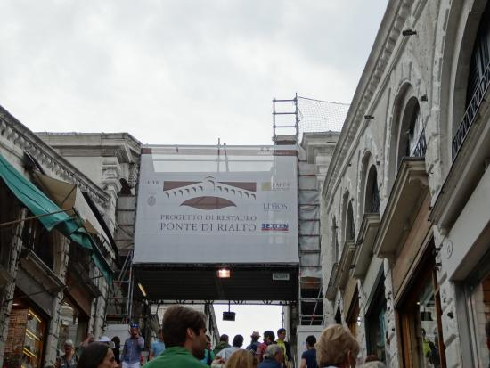 rialto bridge construction project may 2016 ベネチア リアルト橋