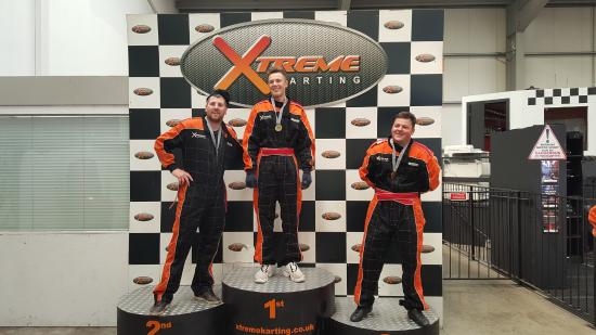 Xtreme Karting Falkirk: The winners.