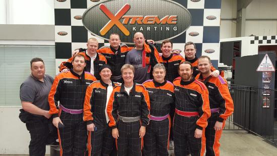Xtreme Karting Falkirk: Our group.