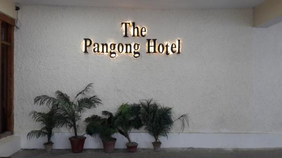 Hotel Pangong: Entrance of Hotel and Parking