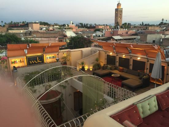 Maison MK: Evening view from the terrace