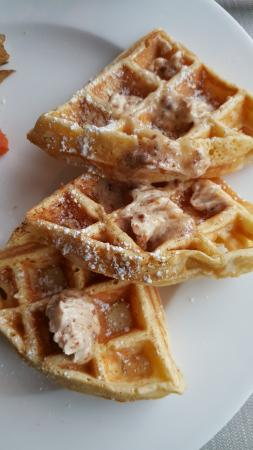 Morris, CT: waffles with banana pecan butter (If i remember correctly)