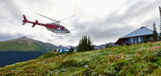 Purcell Mountain Lodge: Heli in this summer