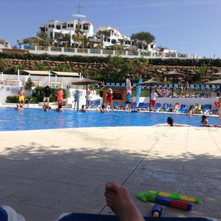 main pool with splash pool at the top