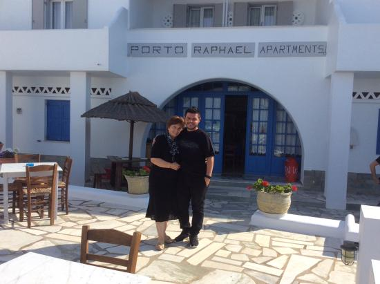Porto Raphael Residences & Suites: Owner with one of her sons.