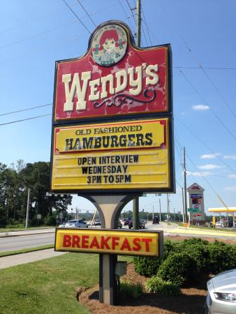 Onsite Sign + hours - Picture of Wendy's, Dallas - TripAdvisor