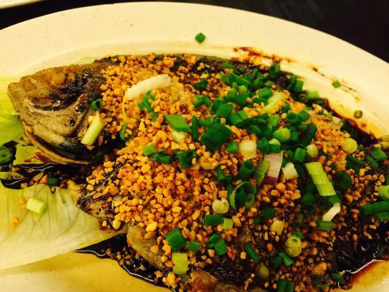 Oyster sauce deep fried fish