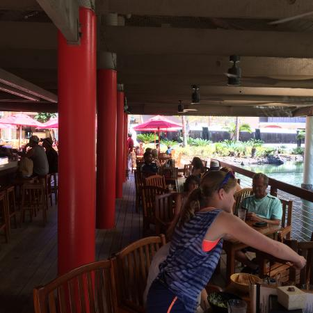 Boat Landing Cantina: Cantina by the water and monorail