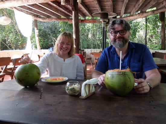 Jolie Jungle: coconuts and fruitafter Temazcal