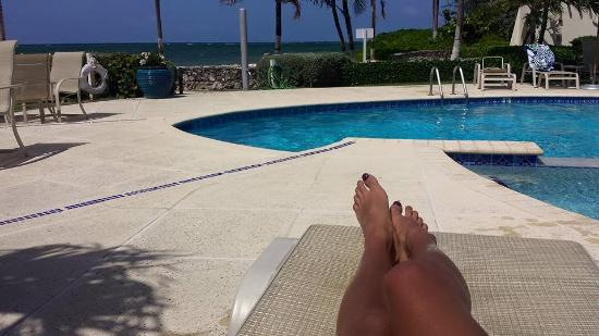 Villas Pappagallo : Pool overlooking water