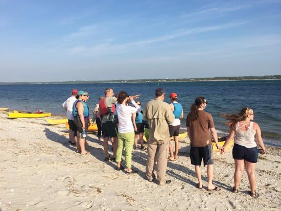Long Pasture Wildlife Sanctuary : learning about coastline