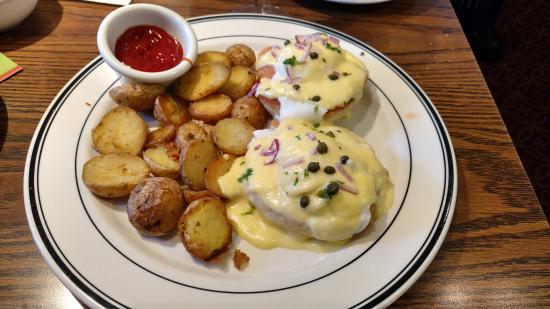 San Mateo, CA: Smoked Salmon Eggs Benedict. Excellent choice.
