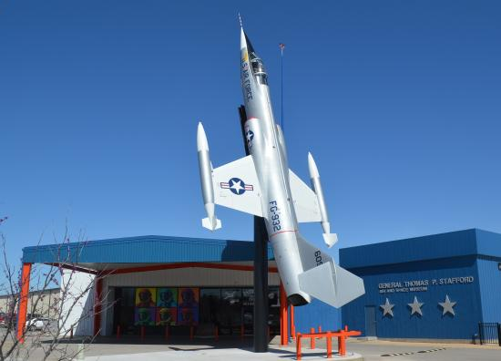 "Weatherford, OK: An F-104 ""Starfighter"" soars to life in front of the Stafford Air & Space Museum!"
