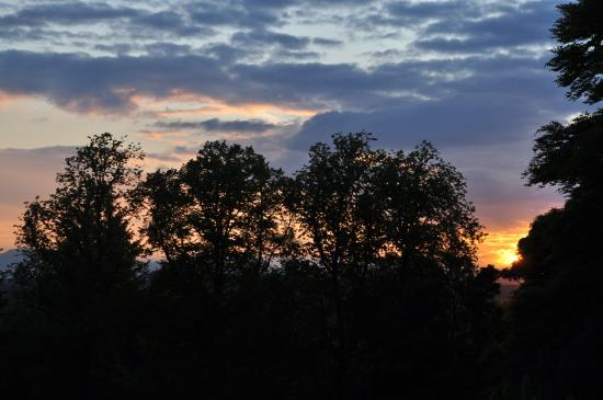 Dunblane, UK: Sunset over Perthshire
