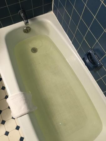 Yellow water from faucets, yuck! - Picture of Brittany Motel ...