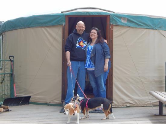 Ridgway State Park: outside yurt 12