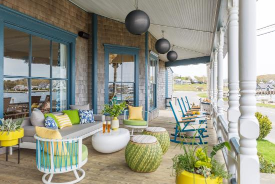 Summercamp Hotel Fun Modern Porch Furniture At Our Oak Bluffs Overlooking The Harbor