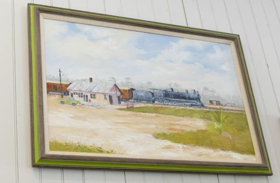 Vero Train Station: Painting of train station