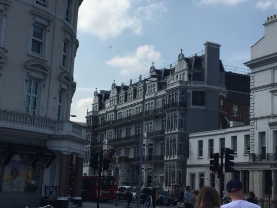 The Ampersand Hotel: View from South Kensington underground station