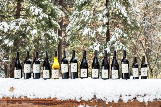 Ripon, CA: The lineup of Lucca Winery