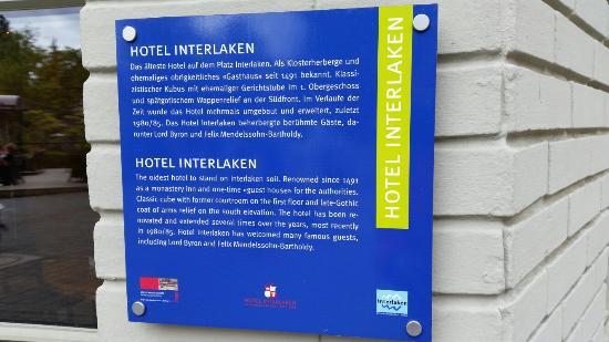 Hotel Interlaken: Outside view