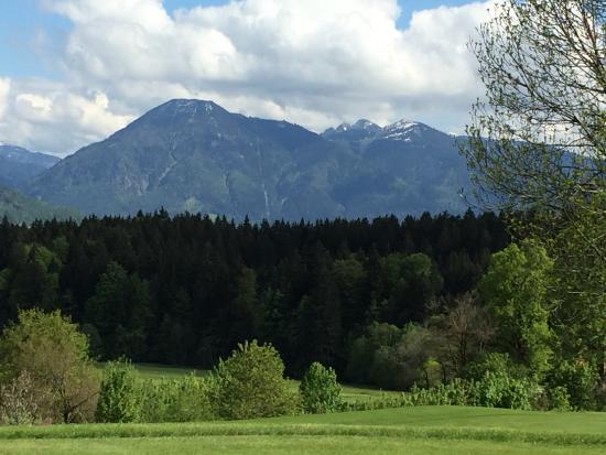 Marienstein, Deutschland: View from golfcourse to wallberg