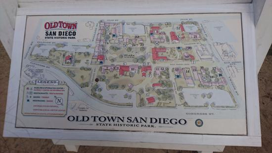 A map picture of old town san diego state historic park - Towne place at garden state park ...