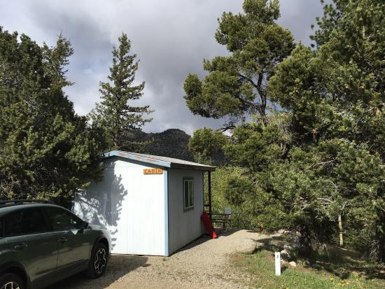 Arkansas River Rim Campground: There is only one cabin available at this campsite. It had a queen size bed and a dresser. The b