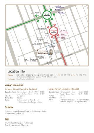 map eng Picture of Gangnam Artnouveau City II Seoul TripAdvisor