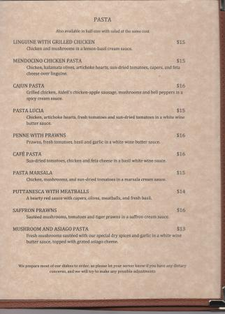 Dora S Gourmet Cafe Menu