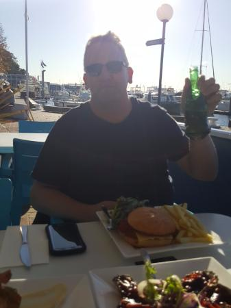 AquaBlue Bistro and Bar: Budda shapped beer bottle Lucky Budda
