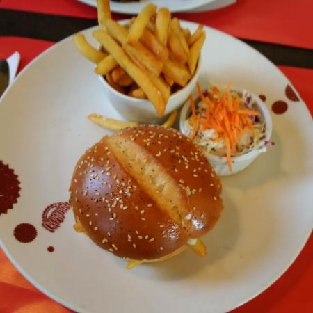 Crepaway: that'd be the meal if you order it at the restaurant otherwise, delivery comes with a burger onl