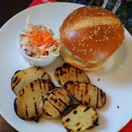 Crepaway: I didn't taste this; it's the blues chicken which was delicious was told unlike thegrilled potat