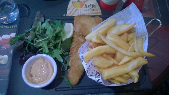 Fish chips picture of au bureau villars tripadvisor