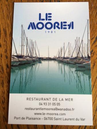 Le moorea st laurent du var restaurantanmeldelser - Restaurant port de saint laurent du var ...