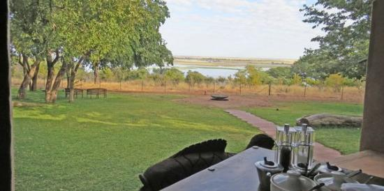 Sanctuary Chobe Chilwero: View from our breakfast table