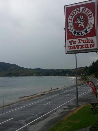 กิสบอร์น, นิวซีแลนด์: Fresh fish and chips with awesome view