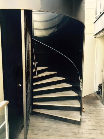 Stairs To The Roof Deck Picture Of Cargo Coffee Vegetarian Food Helsinki Tripadvisor