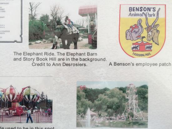 Hudson, Nueva Hampshire: Old Animal Benson park in 1960