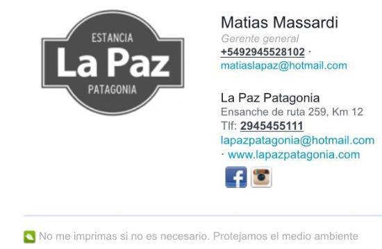 La Paz Patagonia: Estancia La Paz